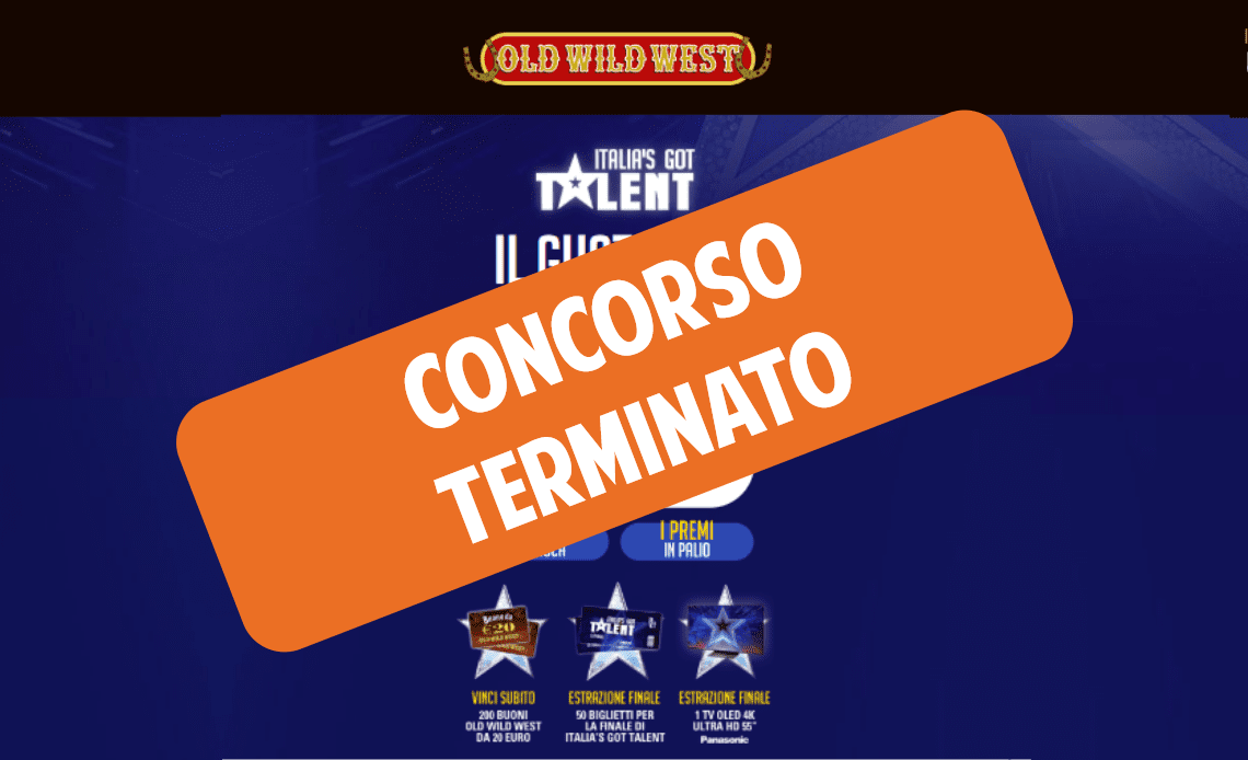 Vinci Italia's got Talent con Old wild west
